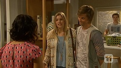 Imogen Willis, Amber Turner, Daniel Robinson, Josh Willis in Neighbours Episode 7019