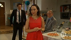 Josh Willis, Imogen Willis, Doug Willis in Neighbours Episode 7019