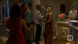 Imogen Willis, Doug Willis, Daniel Robinson, Amber Turner, Josh Willis in Neighbours Episode 7019