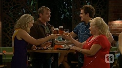 Georgia Brooks, Gary Canning, Kyle Canning, Sheila Canning in Neighbours Episode 7019