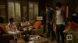 Susan Kennedy, Karl Kennedy, Nate Kinski, Chris Pappas in Neighbours Episode 7021