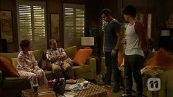 Susan Kennedy, Karl Kennedy, Nate Kinski, Chris Pappas in Neighbours Episode 7021