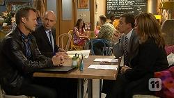 Ezra Hanley, Tim Collins, Paul Robinson, Terese Willis in Neighbours Episode 7026