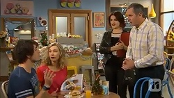 Chris Pappas, Georgia Brooks, Naomi Canning, Karl Kennedy in Neighbours Episode 7029