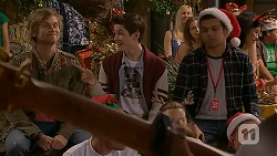 Daniel Robinson, Bailey Turner, Nate Kinski in Neighbours Episode 7029