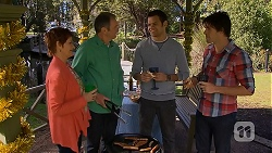Susan Kennedy, Karl Kennedy, Nate Kinski, Chris Pappas in Neighbours Episode 7030