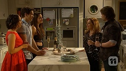 Imogen Willis, Josh Willis, Paige Novak, Terese Willis, Brad Willis in Neighbours Episode 7030