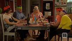 Naomi Canning, Gary Canning, Sheila Canning, Kyle Canning, Georgia Brooks in Neighbours Episode 7030