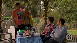 Kyle Canning, Georgia Brooks, Chris Pappas, Nate Kinski in Neighbours Episode 7030