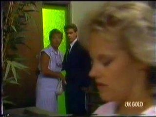 Eileen Clarke, Paul Robinson, Daphne Clarke in Neighbours Episode 0454
