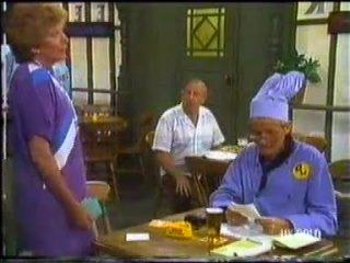 Madge Bishop, Rob Lewis, Dean Bartholomew in Neighbours Episode 0455