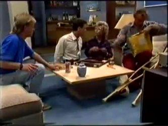 Scott Robinson, Paul Robinson, Helen Daniels, Jim Robinson in Neighbours Episode 0459