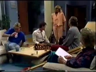 Scott Robinson, Paul Robinson, Jane Harris, Jim Robinson, Helen Daniels in Neighbours Episode 0459