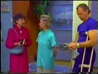 Nell Mangel, Helen Daniels, Jim Robinson in Neighbours Episode 0468