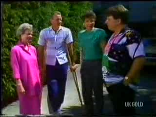 Helen Daniels, Jim Robinson, Christine Wilton, Dennis Wilton in Neighbours Episode 0468