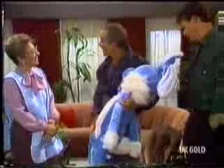 Eileen Clarke, Allen Lawrence, Des Clarke in Neighbours Episode 0470