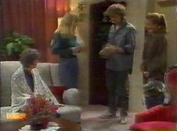 Nell Mangel, Jane Harris, Henry Ramsay, Bronwyn Davies in Neighbours Episode 0777