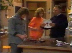 Henry Ramsay, Madge Bishop, Harold Bishop in Neighbours Episode 0777