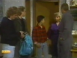 Henry Ramsay, Nick Page, Todd Landers, Helen Daniels, Jim Robinson in Neighbours Episode 0779
