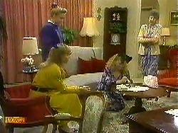Bronwyn Davies, Jane Harris, Sharon Davies, Nell Mangel in Neighbours Episode 0781