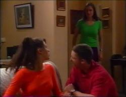 Sarah Beaumont, Caitlin Atkins, Ben Atkins in Neighbours Episode 2961