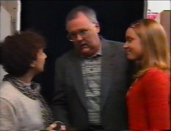 Carmel Dubios, Harold Bishop, Claire Girard in Neighbours Episode 2962