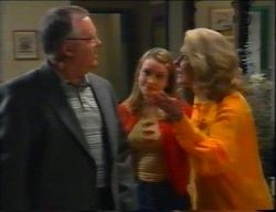 Harold Bishop, Claire Girard, Madge Bishop in Neighbours Episode 2962