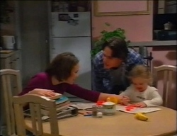 Libby Kennedy, Darren Stark, Louise Carpenter (Lolly) in Neighbours Episode 2963
