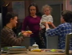 Martin Pike, Libby Kennedy, Louise Carpenter (Lolly), Darren Stark in Neighbours Episode 2963