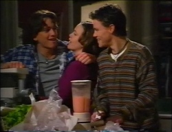Darren Stark, Libby Kennedy, Martin Pike in Neighbours Episode 2963
