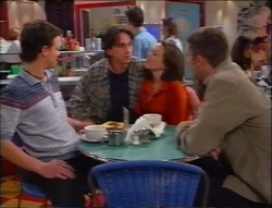 Martin Pike, Darren Stark, Libby Kennedy, Ben Atkins in Neighbours Episode 2964