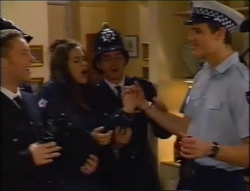 Ben Atkins, Sarah Beaumont, Darren Stark, Matt Compton in Neighbours Episode 2964