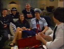 Martin Pike, Libby Kennedy, Ben Atkins, Sarah Beaumont, Matt Compton, Darren Stark in Neighbours Episode 2964