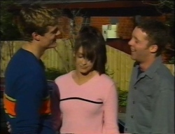 Matt Compton, Sarah Beaumont, Ben Atkins in Neighbours Episode 2964