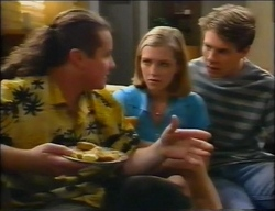 Toadie Rebecchi, Amy Greenwood, Lance Wilkinson in Neighbours Episode 2966
