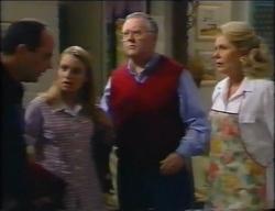 Philip Martin, Claire Girard, Harold Bishop, Madge Bishop in Neighbours Episode 2966