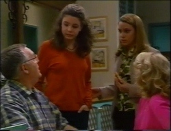 Harold Bishop, Hannah Martin, Claire Girard, Madge Bishop in Neighbours Episode 2967