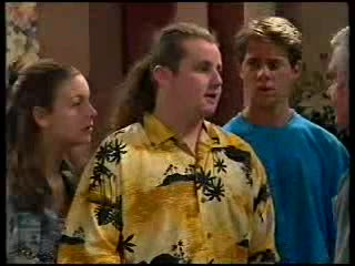 Hannah Martin, Toadie Rebecchi, Lance Wilkinson, Lou Carpenter in Neighbours Episode 3000