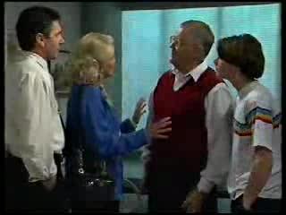 Karl Kennedy, Madge Bishop, Harold Bishop, Paul McClain in Neighbours Episode 3000