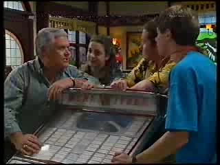 Lou Carpenter, Hannah Martin, Toadie Rebecchi, Lance Wilkinson in Neighbours Episode 3000