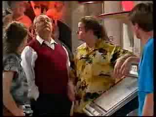 Hannah Martin, Harold Bishop, Toadie Rebecchi, Lance Wilkinson in Neighbours Episode 3000