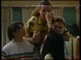Paul McClain, Toadie Rebecchi, Billy Kennedy, Susan Kennedy in Neighbours Episode 3000