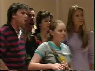 Joe Scully, Toadie Rebecchi, Lyn Scully, Michelle Scully, Felicity Scully in Neighbours Episode 3559