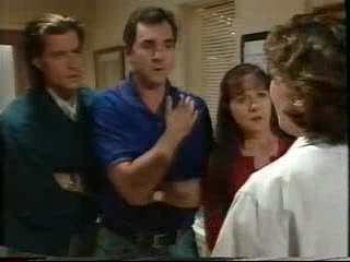 Drew Kirk, Karl Kennedy, Susan Kennedy, Dr Veronica Olenski in Neighbours Episode 3559