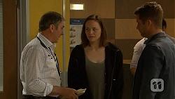 Karl Kennedy, Erin Rogers, Mark Brennan in Neighbours Episode 7031