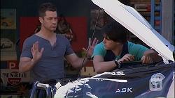 Mark Brennan, Chris Pappas in Neighbours Episode 7034