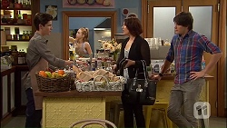 Bailey Turner, Naomi Canning, Chris Pappas in Neighbours Episode 7035