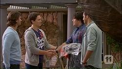 Brad Willis, Josh Willis, Chris Pappas, Nate Kinski in Neighbours Episode 7035