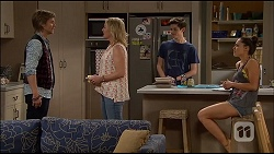 Daniel Robinson, Lauren Turner, Bailey Turner, Paige Novak in Neighbours Episode 7037