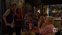 Daniel Robinson, Imogen Willis, Kyle Canning, Georgia Brooks, Sheila Canning in Neighbours Episode 7039
